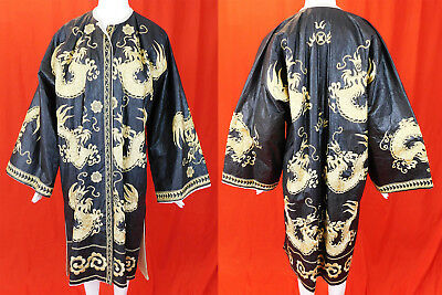 Antique Chinese Dong Minority Tribal Ethnic Embroidered Dragon Festival Robe Vtg