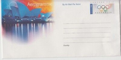 Stamp Australia 2000 Sydney Olympic Games aerogramme showing Opera House, nice