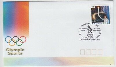 Stamp Australia 45c Kathy Freeman Sydney Olympic Games on official fdc postmark