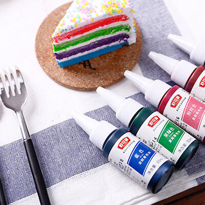 1Pc Food Grade Cookie Baking Cake Cream Bread Food Color Pigments 7 Colors 30ml