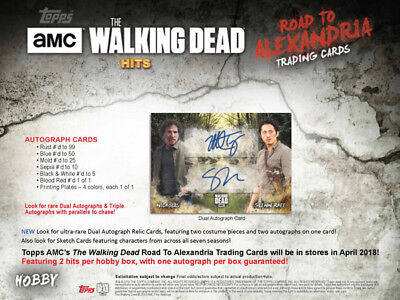 Walking Dead Road to Alexandria Complete 100 Card Base Set