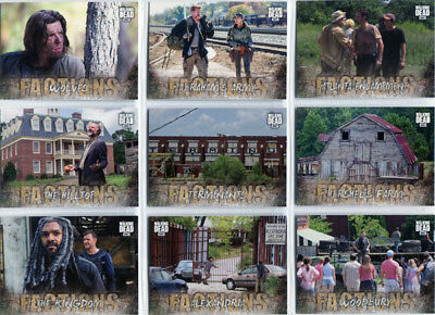Walking Dead Road To Alexandria Factions Complete 10 Card Chase Set F-1 to F-10