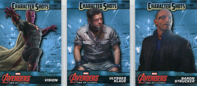 Marvel Avengers Age of Ultron Character Shots Complete 15 Card Chase Set