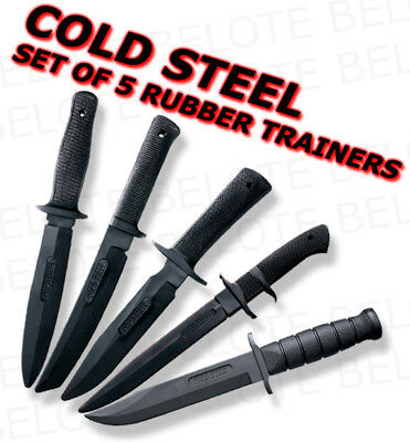 Cold Steel Rubber Training Practice Knife Knives 5 Set 10D 13R 14R 14B 39L *NEW*