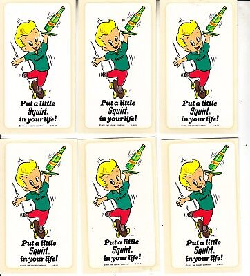 SQUIRT DECALS  12 PIECES PUT A LITTLE SQUIRT IN YOUR LIFE c1977