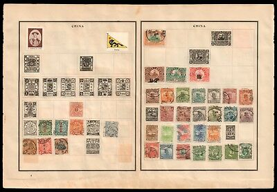 CHINA 1898-1923 Dragons / Fiscal Revenue / Famine Relief - Stamp Collection