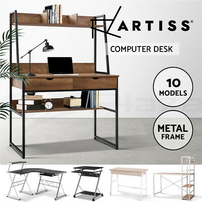 Computer Desk Table Wooden Metal Office Student Mobile Portable Various Models
