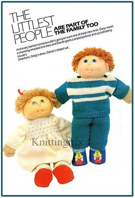 CABBAGE PATCH DOLLS KNIT CLOTHES - (copy) VINTAGE KNITTING PATTERN -BOY AND GIRL