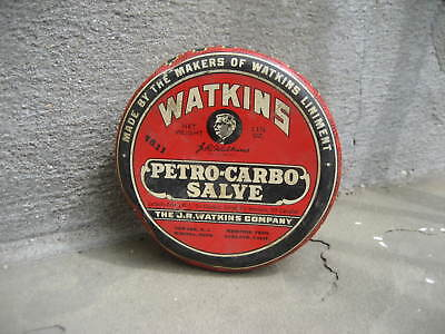 Vintage Watkins Petro-Carbo Salve Tin