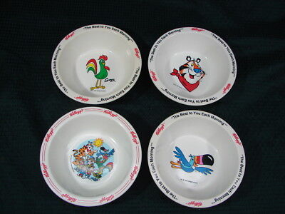 OPC Vintage Lot of 4 Kelloggs Used cereal Bowls