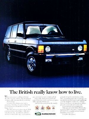 1994 Range Rover Original Advertisement Print Art Car Ad J963