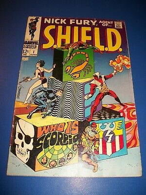 Nick Fury Agent of Shield #1 Silver Age Steranko Key Wow Solid VG+