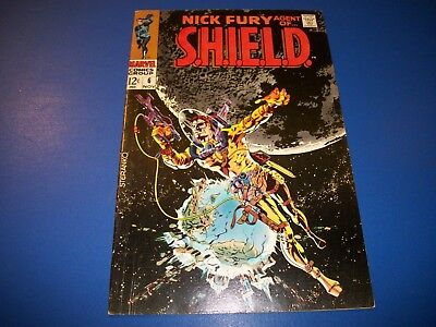 Nick Fury Agent of Shield #6 Silver Age Steranko Solid VG/F