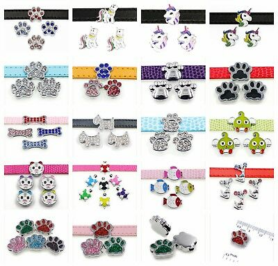 Cute Animal 5pc 8mm Dog pet slide charms fit for 8mm belt/pet collar free ship