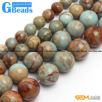 """Natural Shoushan Stone Smooth Round Loose Beads for Jewelry Making Strand 15"""""""