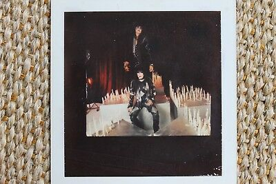 Motley Crue Nikki Sixx Mick Mars Theatre Of Pain Polaroid Album Photograph 1985