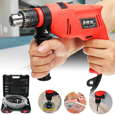 All In 1 Plumber Electric Drain Cleaner Auger Sewer Snake Hammer Drill Driver