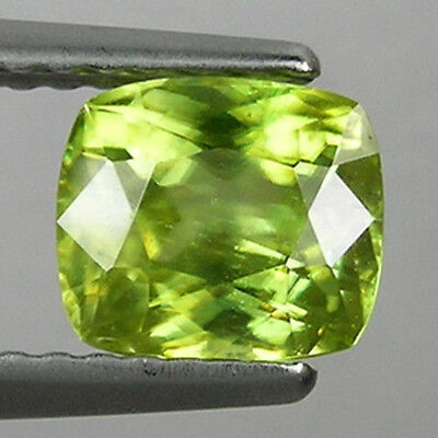 1.20 cts SPARKLING RARE GLOW YELLOW _ NATURAL SPHENE - CUSHION SHAPE !