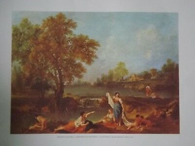 Lithographie: *landscape With A Waterfall - Zuccarelli* Avec Certificat Au Dos.