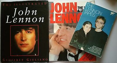♫ THE BEATLES 3 x John Lennon Ono Books - OOP in good condition - lot 28 ♫