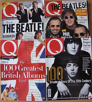 ♫ THE BEATLES  4 great Q magazines  OOP - lot 24 ♫