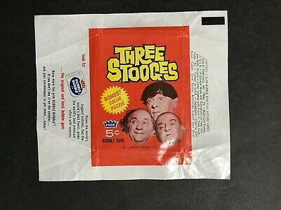 THREE STOOGES WAX TRADING CARD WRAPPER BY FLEER, FROM 1960's