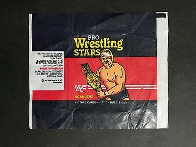 Scanlens Pro Wrestling Stars Wax Wrapper From 1986