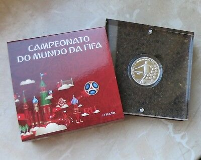 """PORTUGAL 2018 - 2,5 Euro """" Fußball WM in Russland """" in PP / PROOF"""