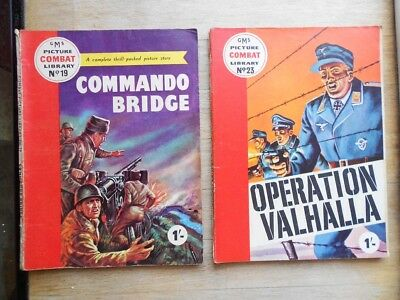 2 x vintage Combat Picture Library comics No's 19 & 23