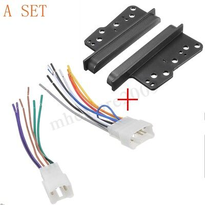 Car Stereo Radio Double Din Dash Frame Trim w/ Wire Harness Set For Toyota Scion