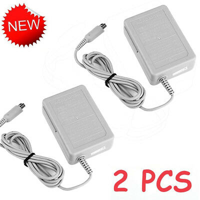 2PCS AC Home Wall Travel Charger Power Adapter Cord For Nintendo DSi NDSi 3DS XL