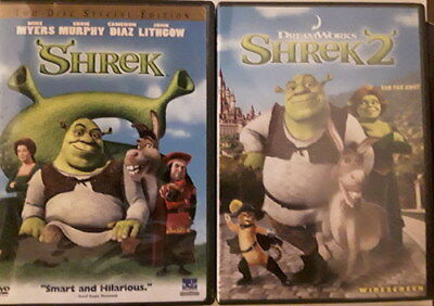Shrek 1 2 3 Third 4 Forever After movie Collection