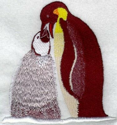 Embroidered Sweatshirt - Emporer Penguin with Chick M1160