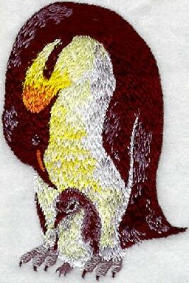 Embroidered Sweatshirt - Penguin with Chick M1162