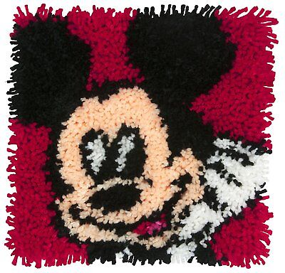 "Mickey Mouse Licensced Latch Hook Kit 12x12"", tool not included"
