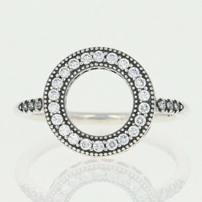 7390770b8 New Authentic Hearts of Pandora Halo Ring 191039CZ Sterling Silver 6 52  Clear CZ