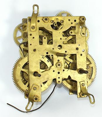 Antique American 8 Day Clock Time & Strike Movement - Parts Only - Kc508