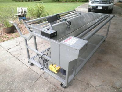 Fabric Measuring Cutting Machine Table, w/ Durant Counter & Leeson Speed Control