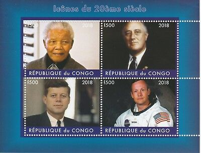 Congo Stamps Congo 7544-2018 George Michael Perf Sheet Of 4 Values Unmounted