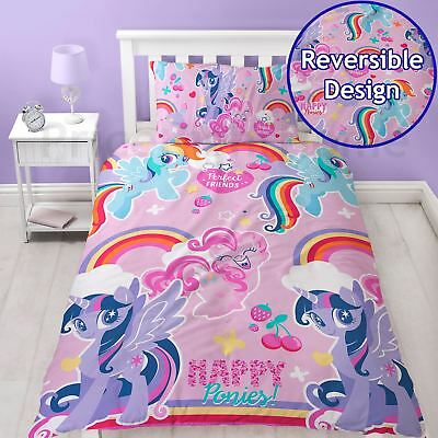 My Little Pony Crush Single Duvet Cover Set Bedding Childrens - 2 In 1 Design
