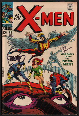 X-Men #49 SIGNED by Roy Thomas and Jim Steranko Cover Art Marvel Comics Don Heck