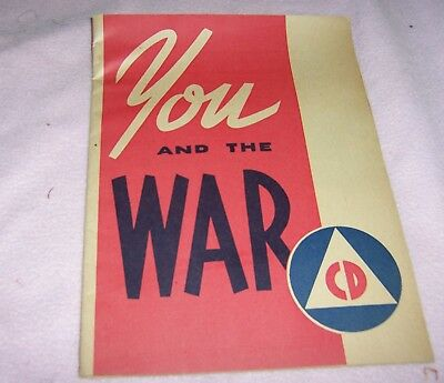 1942  You And The War CD Paper Booklet