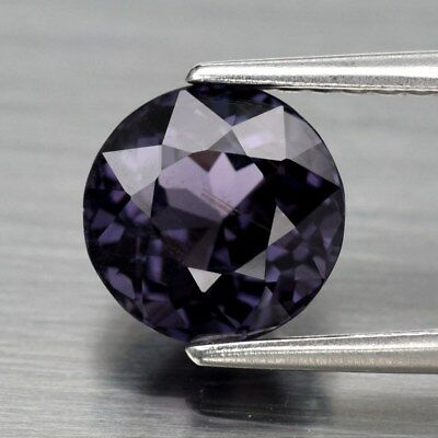 1.70ct 7mm Round Natural Purple Spinel, Tanzania