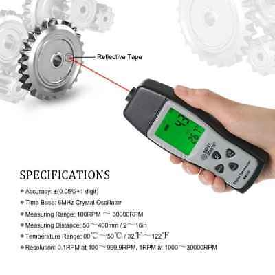 SMART SENSOR Digital Tachometer Speedometer Car Non-Contact RPM Tester Meter