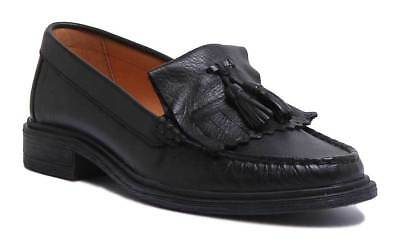 Justin Reece Samantha Women Ladies All Leather Tassel Loafers Size UK 3 - 8