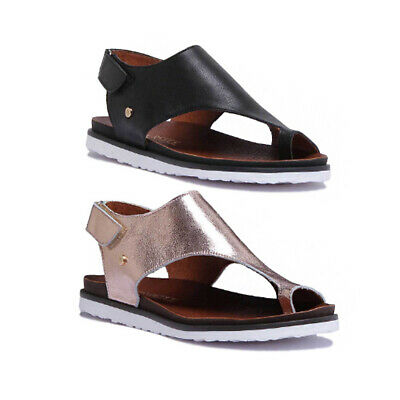 Justin Reece Womens Ladies Toe Thong Comfort All Leather Sandal Size UK 3 - 8