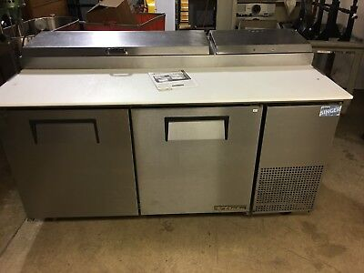 """True TPP-67 - 67"""" Pizza Prep Table Two Doors Holds 9, 1/3 Size Pans, PSU"""