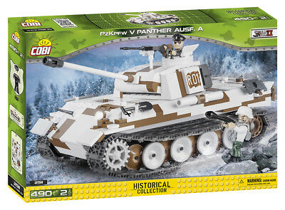 COBI 2511 Deutscher PzKpfw V Panther Ausf.A Winter 490 Bausteine/2 Figuren NEU !
