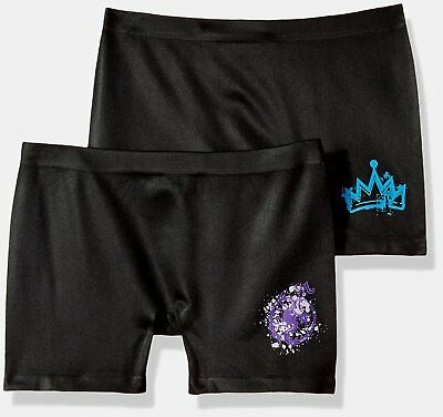 NEW Girls Disney Descendants 2 Pk Seamless Play Short Boyshort Underwear M 8-10