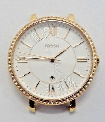 e9ff01bf1 Fossil C141016 Women's Rose Gold Tone Analog Watch Case With Engraving Used